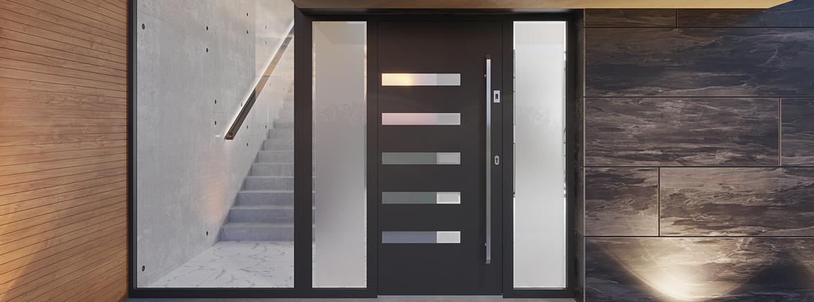 Egyedi gyártású alumínium bejárati ajtók
